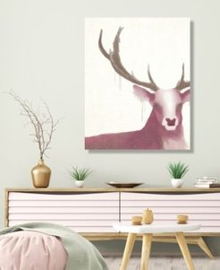 "Prince Of The Forest - Deer Rose 20"" X 24"" Canvas Wall Art Print"