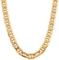 """Mariner Link Chain 24"""" Necklace in 10k Gold"""