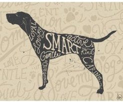 "Traits of A Pointer Hunting Dog 24"" x 36"" Metal Wall Art Print"