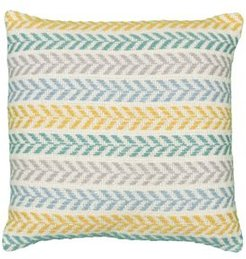 Altair Emerald City Chevron Throw Pillow