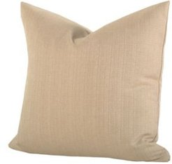 "Linen Bisque 16"" Designer Throw Pillow"