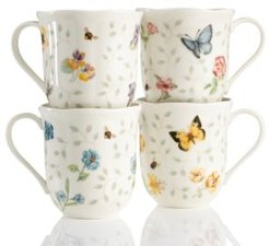Set of 4 Butterfly Meadow Petite Assorted Mugs