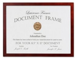 """Walnut Wood Certificate Picture Frame - Gallery Collection - 8.5"""" x 11"""""""
