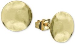 Hammered Stud Earrings in Gold-Plated Sterling Silver