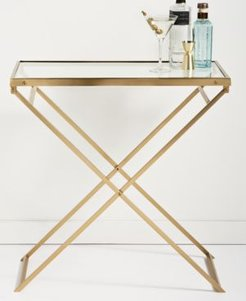 Closeout! Hotel Collection Gold Folding Bar Cart, Created for Macy's