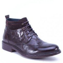 Leather Casual Lace Up Boot Men's Shoes
