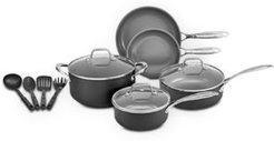 Closeout! Crux 12-Pc. Gray Nonstick Ceramic Cookware Set