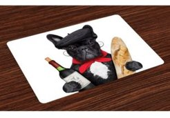 Bulldog Place Mats, Set of 4