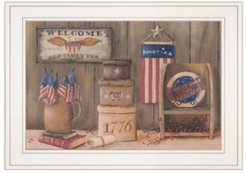 "Sweet Land of Liberty by Pam Britton, Ready to hang Framed Print, White Frame, 19"" x 15"""