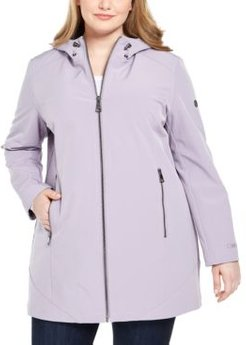 Plus Size Hooded Raincoat