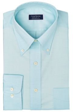 Classic/Regular-Fit Performance Stretch Yarn-Dyed Pinpoint Dress Shirt, Created for Macy's