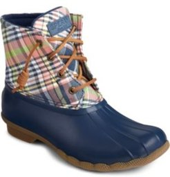 Saltwater Washed Plaid Boot Women's Shoes