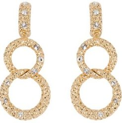 18k Gold Plated Bold Link Pierced Earrings