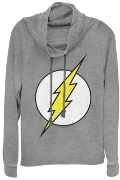 Dc The Flash Classic Lightning Bolt Logo Cowl Neck Women's Pullover Fleece