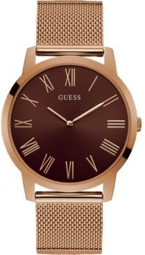Rose Gold-Tone Stainless Steel Mesh Bracelet Watch 44mm