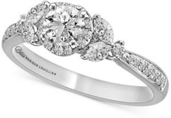 Bliss Monique Lhuiller Diamond Engagement Ring (1 ct. t.w.) in 14k White Gold