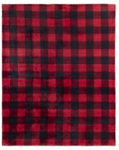 Safdie & Co. Inc Throw Flannel Printed Ribbed Plaid