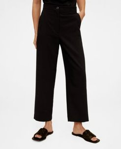 Suit Cropped Trousers