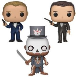 Pop Movies James Bond Series 2 Collectors Set - Daniel Craig Casino Royale, Baron Samedi Live and Let Die, Pierce Brosnan Golden Eye