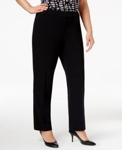 Plus Size Straight-Leg Pants