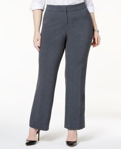 Plus & Petite Plus Size Curvy-Fit Straight-Leg Pants, Created for Macy's