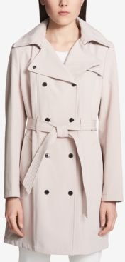 Hooded Double-Breasted Water-Resistant Trench Coat, Created for Macy's