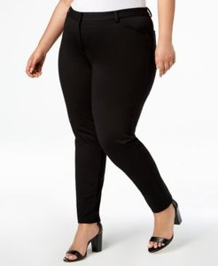 Plus Size Ponte Skinny Compression Pants