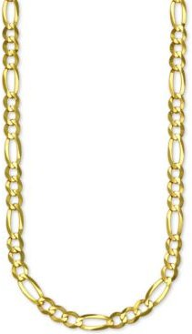 "Figaro Link 28"" Chain Necklace in 14k Gold"