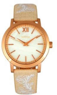 Quartz Penelope Collection Cream And Eggshell Leather Watch 36Mm