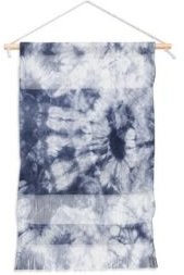 "Amy Sia Tie Dye 3 Navy Wall Hanging Portrait, 11""x16"""