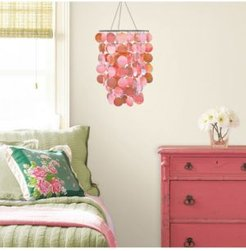 Pearlized Pink Sequin Chandelier
