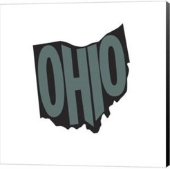 Ohio Letters by Art Licensing Studio Canvas Art