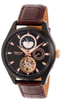 Automatic Sebastian Black & Brown Leather Watches 40mm