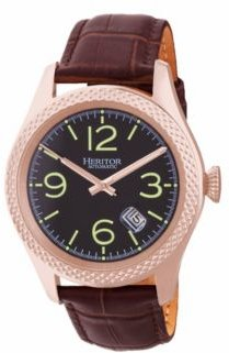 Automatic Barnes Rose Gold & Brown Leather Watches 44mm