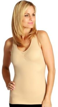 InstantFigure Shirred Bust Tank Top with High Back, Online Only