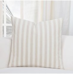 "Farmhouse Barley Striped 26"" Designer Euro Throw Pillow"