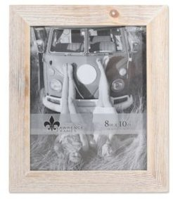 "Sarasota Whitewash and Weathered Natural Wood Picture Frame - 8"" x 10"""