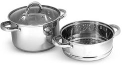 Stainless Steel 4-Qt. Multi Cooker with Glass Lid & Steam Tray