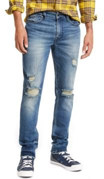 Slim, Tapered Ripped Jeans