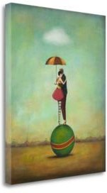 """Circus Romance by Duy Huynh Giclee Print on Gallery Wrap Canvas, 20"""" x 24"""""""
