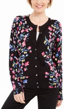 Petite Festival Fields Button Cardigan, Created for Macy's