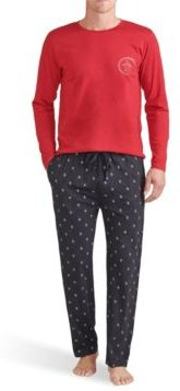 Long Sleeve Crew and Printed Knit Pete Pant Gift Set