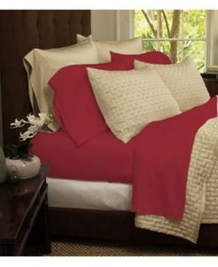 Luxury Home Rayon and Microfiber Bed Sheets Set - Full Bedding