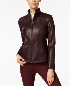 Wing Collar Leather Jacket