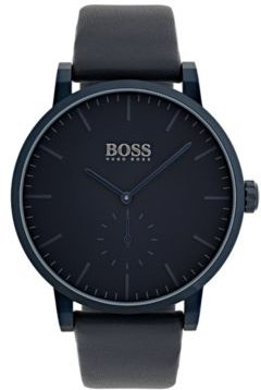 Hugo Boss Men's Essence Blue Leather Strap Watch 42mm