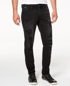 Distressed Slim-Fit Tapered Jeans
