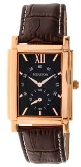Automatic Frederick Rose Gold & Black Leather Watches 32mm