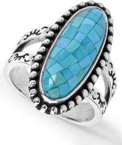 Mosaic Turquoise Ring in Sterling Silver