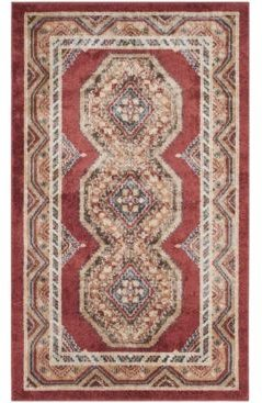 Bijar Red and Rust 3' x 5' Area Rug