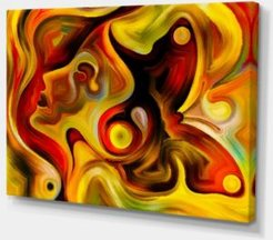 """Designart Butterfly'S Emotions Abstract Canvas Art Print - 32"""" X 16"""""""
